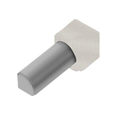 Rondec Ivory 1/2 in. x 1 in. Color-Coated Aluminum Tile Edging Trim 90-Degree Inside Corner