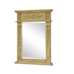 Medium Rectangle Antique White Contemporary Mirror (28 in. H x 22 in. W)