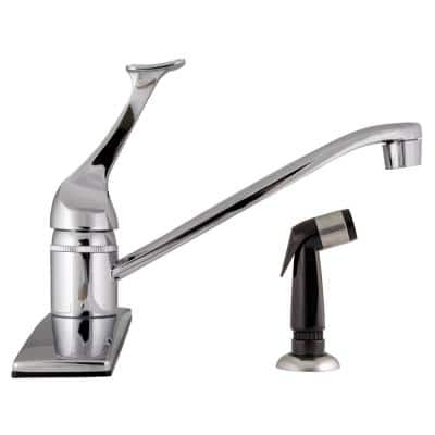 Millbridge Single-Handle Standard Kitchen Faucet with Side Sprayer in Polished Chrome
