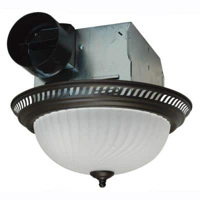 Decorative Oil Rubbed Bronze 70 CFM Ceiling Bathroom Exhaust Fan with Light