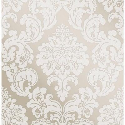 Margot Bronze Damask Strippable Wallpaper (Covers 56.4 sq. ft.)