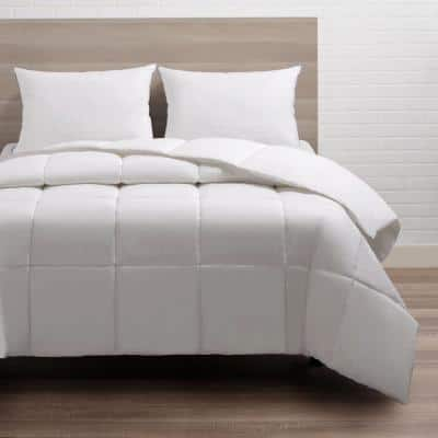 Candice Olson 233 Thread Count 100% Cotton White Duck Down Queen Comforter