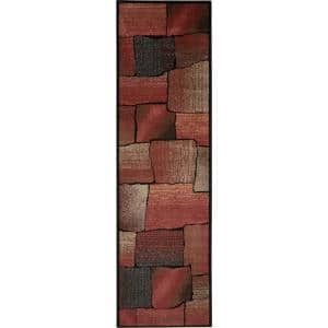 Expressions Multicolor 2 ft. x 6 ft. Geometric Contemporary Runner Rug