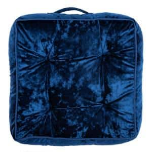 Primrose 18 in. x 18 in. Navy Polyfill Square Floor Pillow