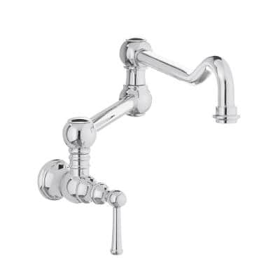 Lyndhurst Single-Handle Wall-Mount Pot Filler Faucet in Chrome