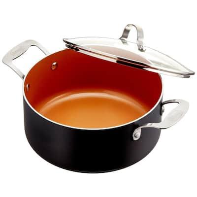 5 Qt. Non-Stick Ti-Ceramic Stock Pot with Glass Lid