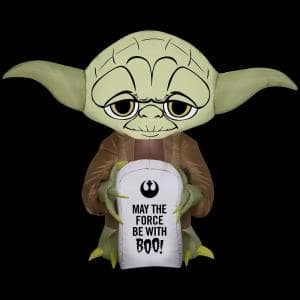3.5 ft. H Inflatable Airblown-Stylized Yoda with Tombstone-SM-Star Wars
