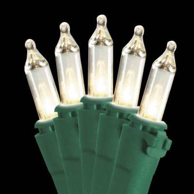 50-Light Ready Lit Clear Bulb String Light Set