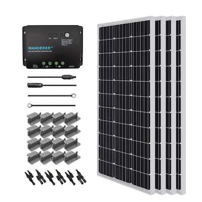 400-Watt 12-Volt Monocrystalline Solar Starter Kit for Off-Grid Solar System