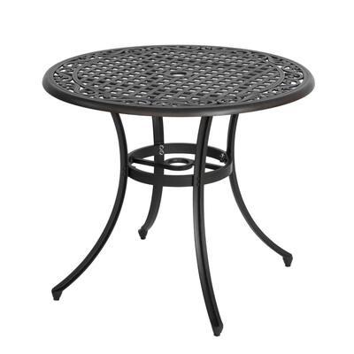 35.5 in. Cast Aluminum Round Bistro Table