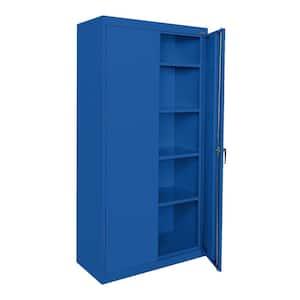 Classic Series Steel Freestanding Garage Cabinet in Blue (36 in. W x 72 in. H x 18 in. D)