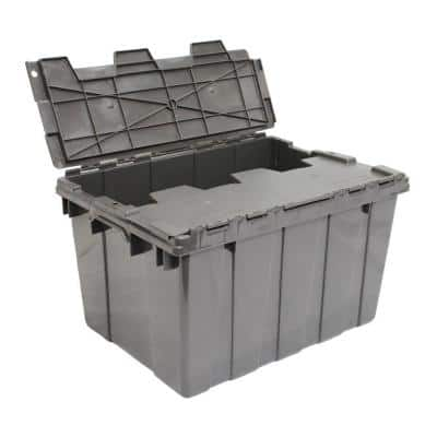 12 Gal. Heavy-Duty Flip Tote in Grey
