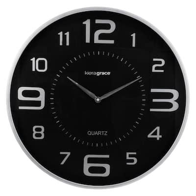 """kieragrace KG Austin Wall Clock - Silver, 18"""""""