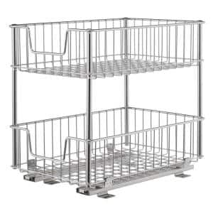 EcoStorage 11.5 in. W x 17.75 in. D x 16.5 in. H Steel Wire in Cabinet Pull-Out 2-Tier Drawer