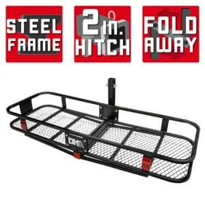 500 lb. Capacity 60 in. x 20 in. Steel Folding Hitch Cargo Carrier for 2 in. Receiver