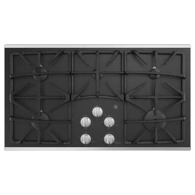 36 in. Gas Cooktop in Stainless Steel with 5 Burners including Power Boil Burner