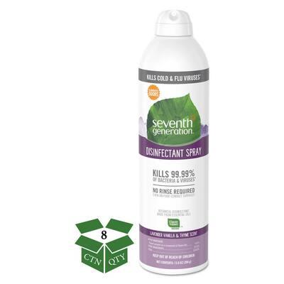 13.9 oz. Lavender Vanilla/Thyme Disinfectant Aerosol Sprays Spray Bottle (8-Count)