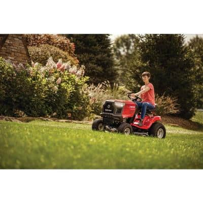 Pony 42 in. 15.5 HP Briggs and Stratton 7-Speed Manual Drive Gas Riding Lawn Tractor