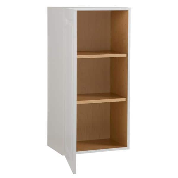 Hampton Bay Benton Assembled 18x36x12 5 In Wall Cabinet In White Bt1836w Wh The Home Depot