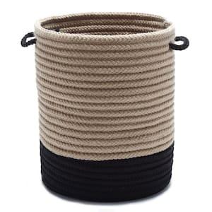 Harbor Black Round Polypropylene Basket
