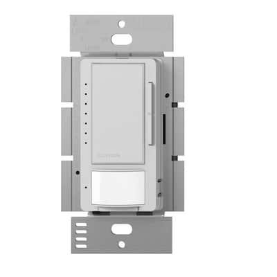 Maestro LED+ Dimmer and Vacancy Motion Sensor, Single Pole and Multi-Location, Palladium