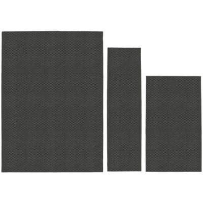 Town Square Cinder Gray 5 ft. x 7 ft. (3-Piece) Rug Set