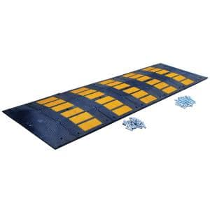 32.25 in. x 120 in. x 2 in. Deluxe Rubber Speed Hump with Concrete Kit