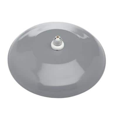 Farmers 1-Light Gray Outdoor Wall Mount Barn Light Sconce with 12 in. Reflector