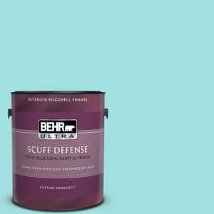 Behr Ultra 1 Gal Ce 02 Mermaid Tears Extra Durable Eggshell Enamel Interior Paint Primer 275001 The Home Depot