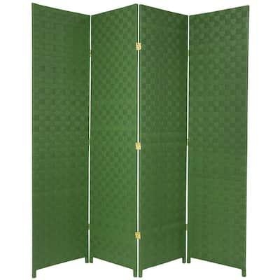 6 ft. Green 4-Panel Room Divider