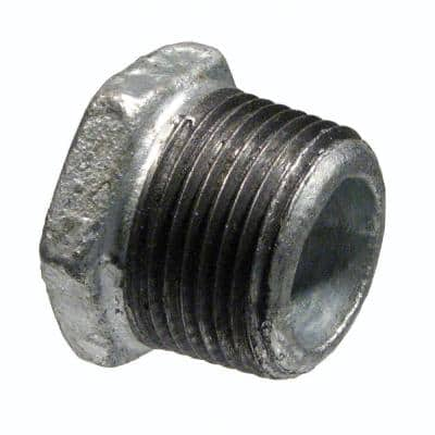 3/4 in. x 1/4 in. Galvanized Malleable Iron MPT x FPT Hex Bushing
