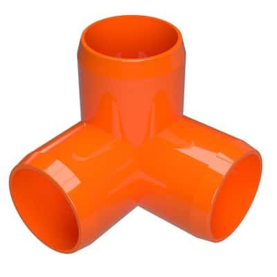 3/4 in. Furniture Grade PVC 3-Way Elbow in Orange (8-Pack)