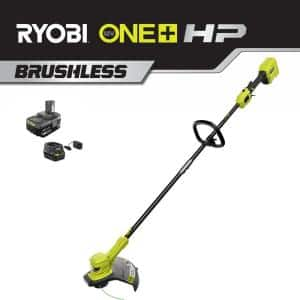 ONE+ HP 18V Brushless Lithium-Ion Cordless Battery String Trimmer - 4.0 Ah Battery and Charger Included