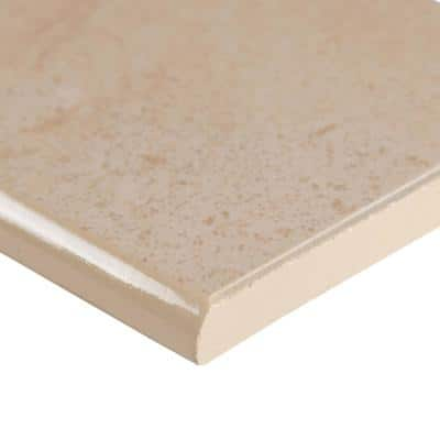 Aria Cremita Bullnose 3 in. x 18 in. Polished Porcelain Wall Tile (15 lin. ft. / case)