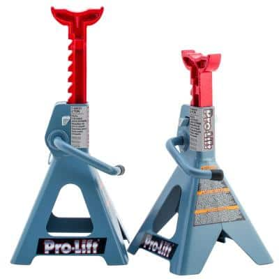 2-Ton Double Pin Jack Stands Pair