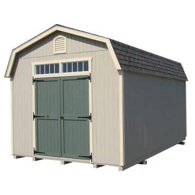 Colonial Woodbury 12 ft. x 14 ft. Wood Storage Building DIY Kit with 6 ft. Sidewalls with Floor