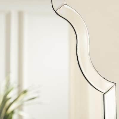 Medium Ornate Arched Beveled Glass Classic Accent Mirror (35 in. H x 24 in. W)