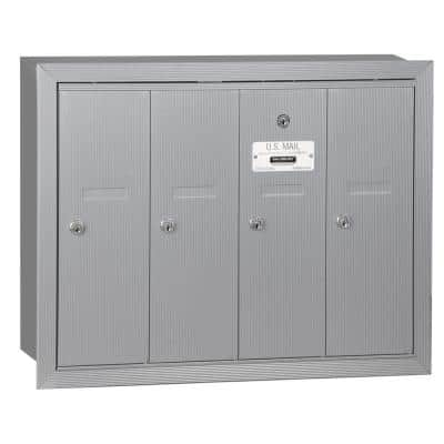 Aluminum Recessed-Mounted USPS Access Vertical Mailbox with 4 Door