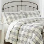 Adderley 3-Piece Black and White Plaid King Comforter Set