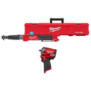 M12 FUEL One-Key 12-Volt Lithium-Ion Brushless Cordless 3/8 in. Digital Torque Wrench & 3/8 in. Impact Wrench (2-Tool)