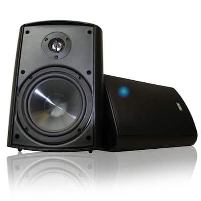 Bluetooth 6.50 in. Indoor/Outdoor Weatherproof Patio Speakers Wireless Outdoor Speakers, Black