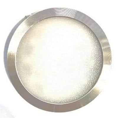 POP LED Hard Wired LED Stainless Steel 4000K Ultra Low Profile Under Cabinet Puck Light Kit