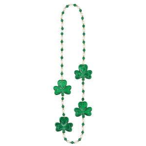 Shamrock and Pearl St. Patrick's Day Bead Necklaces (3-Pack)