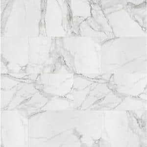 Crystal Bianco 12 in. x 24 in. Polished Porcelain Floor and Wall Tile (16 sq. ft./Case)