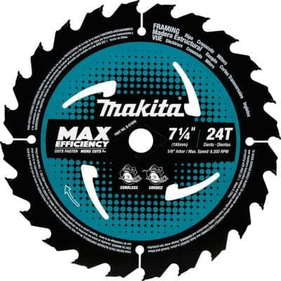 7-1/4 in. 24T Carbide-Tipped Ultra-Thin Kerf Saw Blade, Framing
