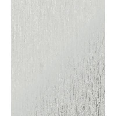 Vittorio Plain TextuRed Grey/Silver Paper Peelable Roll (Covers 56 sq. ft.)