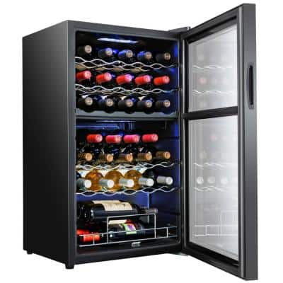 19.4 in. 33-Bottle Dual Zone Compressor Wine Cooler