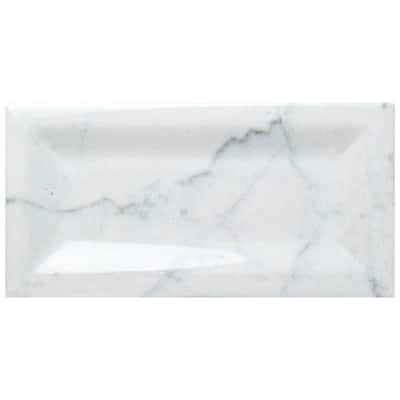 Classico Carrara Glossy Inmetro 3 in. x 6 in. Ceramic Subway Wall Tile (12.41 sq. ft. / case)
