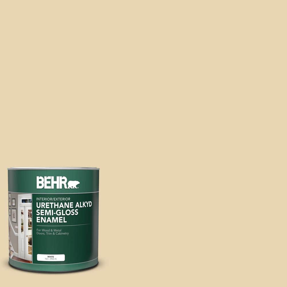 Behr 1 Qt Icc 93 Champagne Gold Semi Gloss Enamel Urethane Alkyd Interior Exterior Paint 390004 The Home Depot