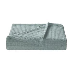 Bahama Coast Blue Woven-Cotton Full/Queen Blanket